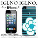 iglno iglno カメリア クリア・ブルー iPhone 5ケース