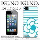 iglno iglno カメリア ホワイト・ブルー iPhone 5ケース