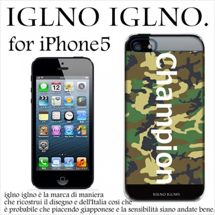 iPhone SE/5s/5 ケース iglno iglno ボックスプリント Champion 迷彩 iPhone 5ケース_0