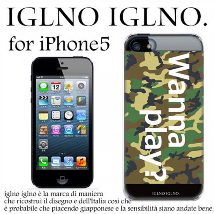 【iPhone SE/5s/5ケース】iglno iglno ボックスプリント Wanna play 迷彩 iPhone 5ケース_0