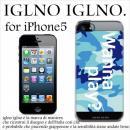iglno iglno ボックスプリント Wanna play ブルー iPhone 5ケース