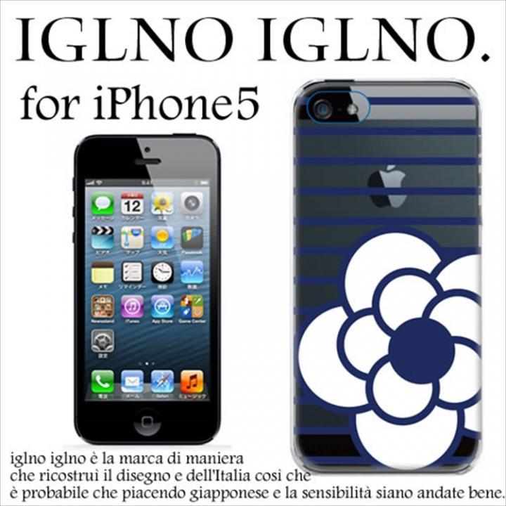 iPhone SE/5s/5 ケース iglno iglno カメリア クリア・ネイビー iPhone 5ケース_0