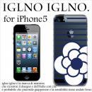 iglno iglno カメリア クリア・ネイビー iPhone 5ケース