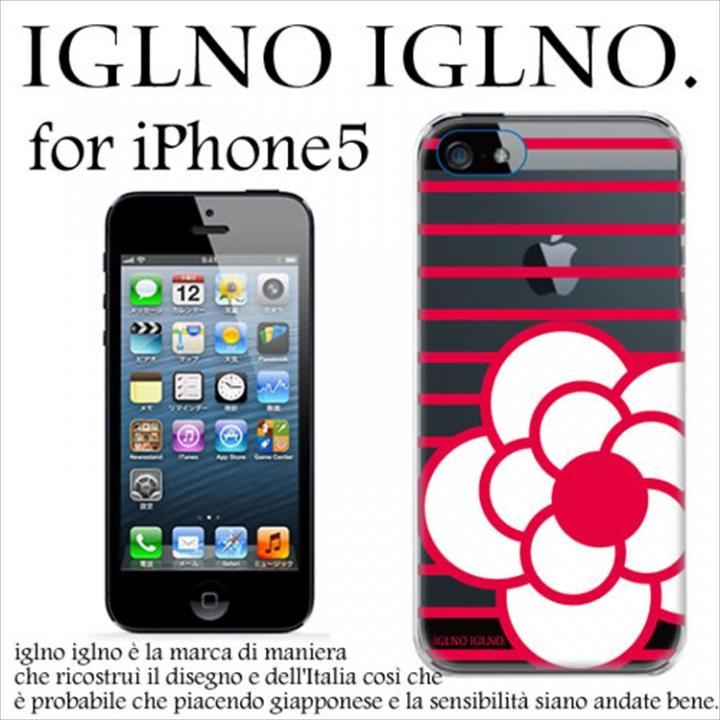 iPhone SE/5s/5 ケース iglno iglno カメリア クリア・レッド iPhone 5ケース_0