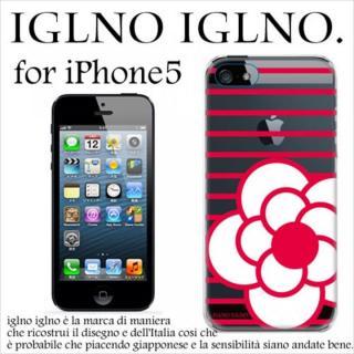 iPhone SE/5s/5 ケース iglno iglno カメリア クリア・レッド iPhone 5ケース