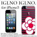 iglno iglno カメリア クリア・レッド iPhone 5ケース