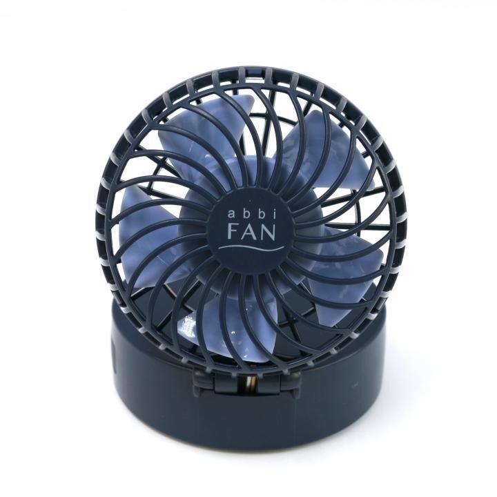 abbi Fan ハンズフリーポータブル扇風機ミラー付き ネイビー_0