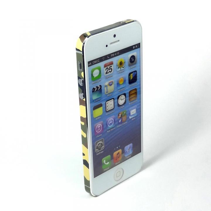 SPDeCO iPhone5 サイドシール/カモフラ グリーン