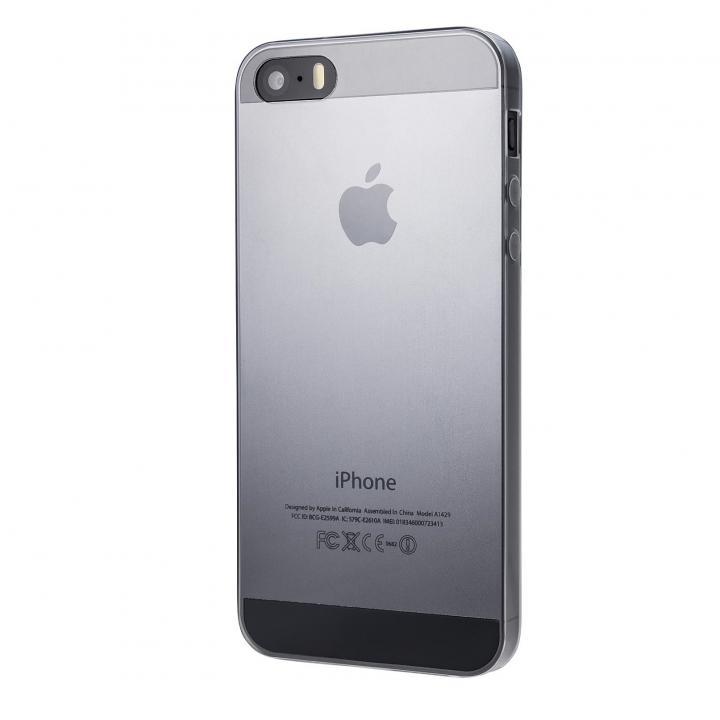 【iPhone SE/5s/5ケース】Super Thin TPUケース スモーク iPhone SE/5s/5ケース_0