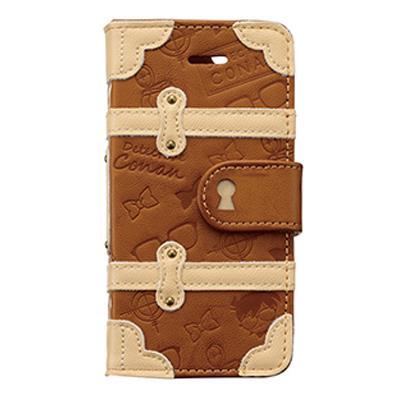 名探偵コナン トランクカバー コナン iPhone SE/5s/5c/5 手帳型ケース