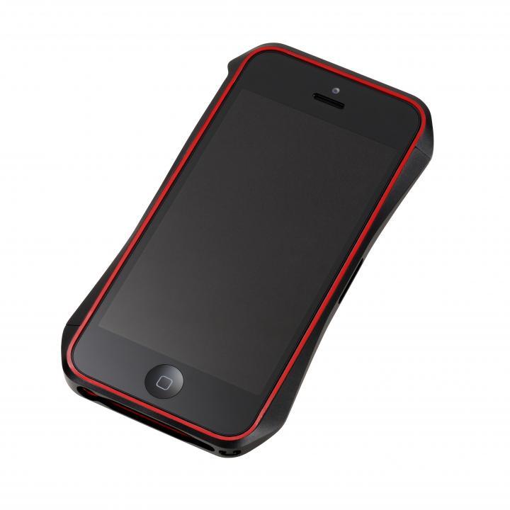 iPhone SE/5s/5 ケース Cleave Aluminum Bumper Aero  iPhone SE/5s/5 ダークナイトブラック_0