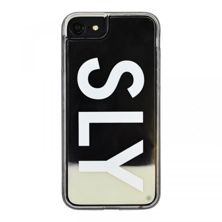 iPhone8/7/6s/6 ケース SLY LOGO ネオンサンドケース ホワイト×ブラック iPhone SE 第2世代/8/7/6s/6_0