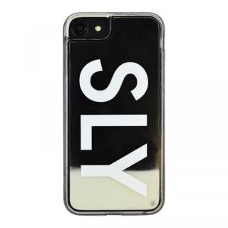 iPhone8/7/6s/6 ケース SLY LOGO ネオンサンドケース ホワイト×ブラック iPhone 8/7/6s/6【1月下旬】