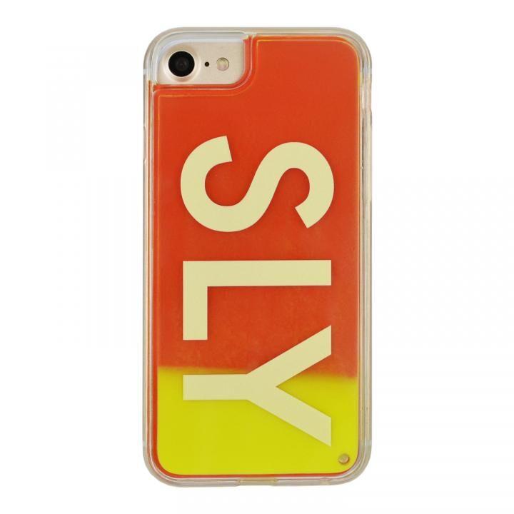 iPhone8/7/6s/6 ケース SLY LOGO ネオンサンドケース イエロー×レッド iPhone SE 第2世代/8/7/6s/6_0