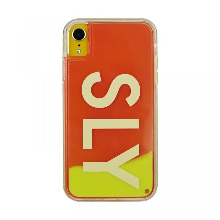 iPhone XR ケース SLY LOGO ネオンサンドケース イエロー×レッド iPhone XR_0