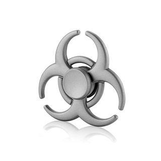 亜鉛合金使用のハンドスピナー MDJ シルバー