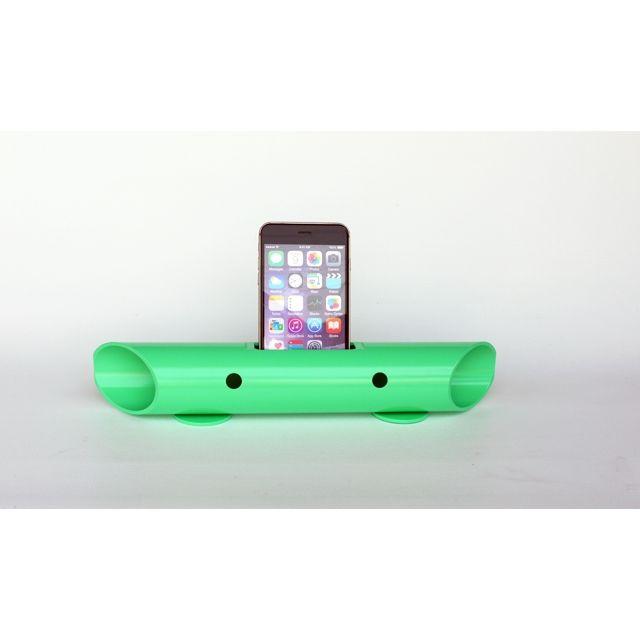 マグネシウム製スマートフォン用無電源スピーカー バイオン-Mg60 ライトグリーン