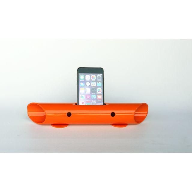 マグネシウム製スマートフォン用無電源スピーカー バイオン-Mg60 オレンジ_0