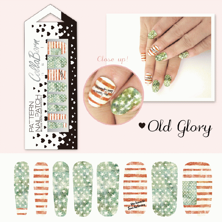 CollaBorn Nail Patch OS-NL-001 Old glory_0