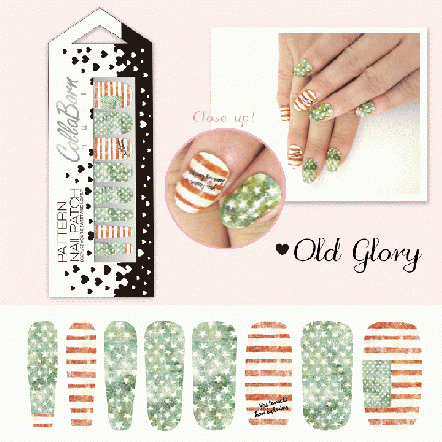 CollaBorn Nail Patch OS-NL-001 Old glory