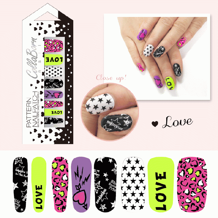 CollaBorn Nail Patch OS-NL-009 Love_NL