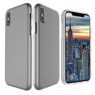 iPhone X ケース PhoneFoam Dual Skin シルバー iPhone X