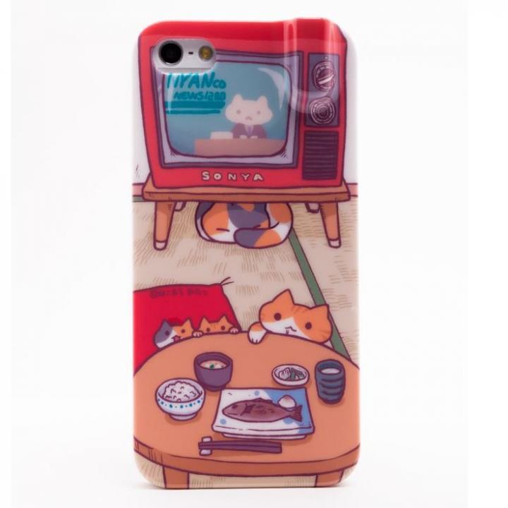 【iPhone SE/5s/5ケース】にゃんこケース ちゃぶ台 iPhone 5ケース_0