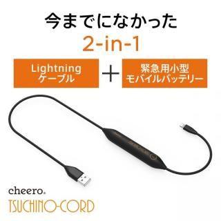 cheero ツチノコード 小型バッテリー内蔵 Lightningケーブル 450mAh