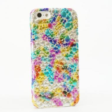 【iPhone SE/5s/5ケース】OMNES iPhone5 Case  multi x white
