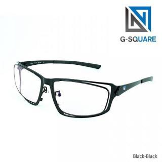 ゲーム用次世代メガネ G-SQUARE アイウェア 6カーブ ブラック/ブラック