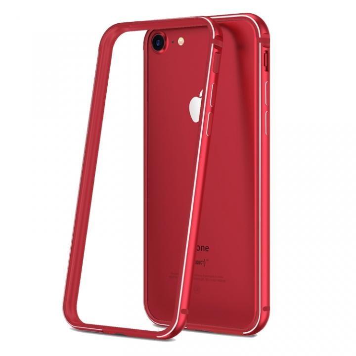 薄型アルミニウム&TPUハイブリッドバンパー 工具不要 Aluminio レッド iPhone 7
