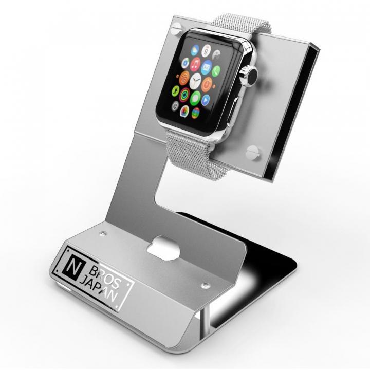 Apple Watchスタンド ステンレス&アルミ素材 シルバー_0
