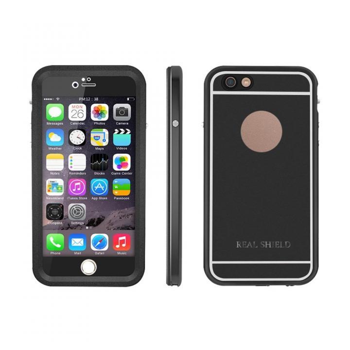 【iPhone6s/6ケース】ウルトラスリム防水耐衝撃ケース インビンシブルシェルター メタルブラック iPhone 6s/6_0