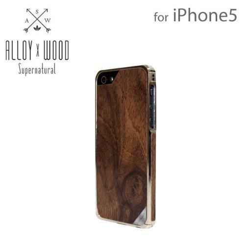iPhone SE/5s/5 ケース 24金×天然木ケース Alloy X Wood  iPhone SE/5s/5_0