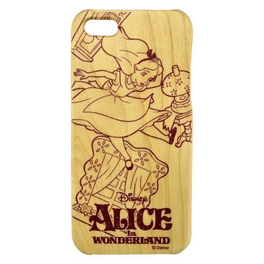 【iPhone SE/5s/5ケース】ディズニー ウッドケース アリス iPhone SE/5s/5_0