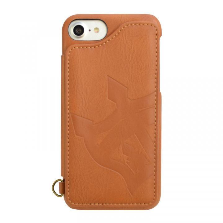 iPhone8/7/6s/6 ケース RODEO CROWNS 背面ケース ビッグクラウン キャメル iPhone SE 第2世代/8/7/6s/6_0