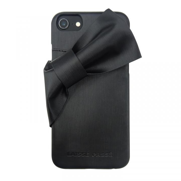 iPhone8/7/6s/6 ケース LAISSE PASSE 背面ケース ドレープリボン ブラック iPhone SE 第2世代/8/7/6s/6_0