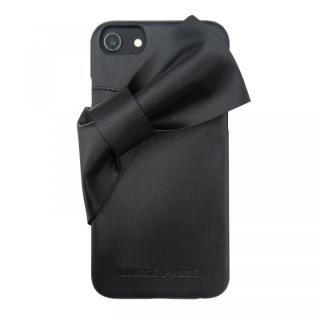 cd87494dc1 LAISSE PASSE 背面ケース ドレープリボン ブラック iPhone 8/7/6s/6