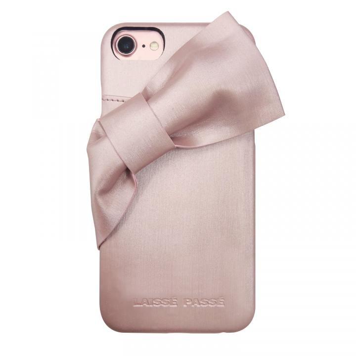 iPhone8/7/6s/6 ケース LAISSE PASSE 背面ケース ドレープリボン ピンク iPhone SE 第2世代/8/7/6s/6_0