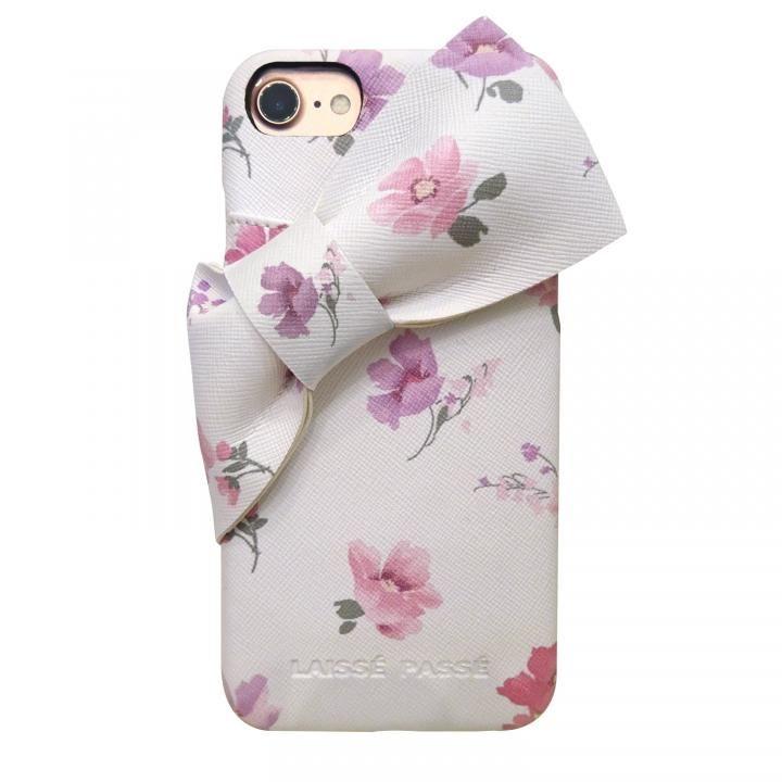 【iPhone8/7/6s/6ケース】LAISSE PASSE 背面ケース ドレープリボン フラワー iPhone 8/7/6s/6【3月上旬】_0