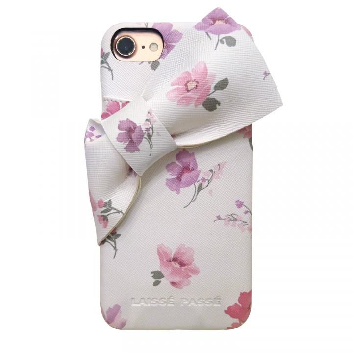 iPhone8/7/6s/6 ケース LAISSE PASSE 背面ケース ドレープリボン フラワー iPhone SE 第2世代/8/7/6s/6_0