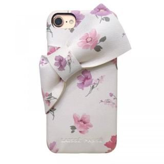 iPhone SE 第2世代 ケース LAISSE PASSE 背面ケース ドレープリボン フラワー iPhone SE 第2世代/8/7/6s/6