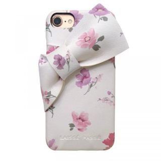 【iPhone8/7/6s/6ケース】LAISSE PASSE 背面ケース ドレープリボン フラワー iPhone 8/7/6s/6