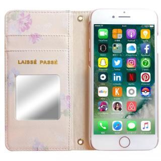 【iPhone8/7/6s/6ケース】LAISSE PASSE 手帳型ケース フラワープリント MILK TEA iPhone 8/7/6s/6_2