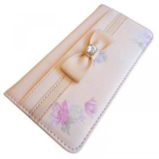 【iPhone8/7/6s/6ケース】LAISSE PASSE 手帳型ケース フラワープリント MILK TEA iPhone 8/7/6s/6_3