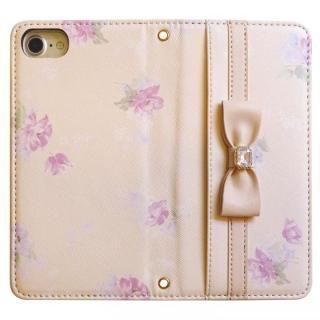 【iPhone8/7/6s/6ケース】LAISSE PASSE 手帳型ケース フラワープリント MILK TEA iPhone 8/7/6s/6_4