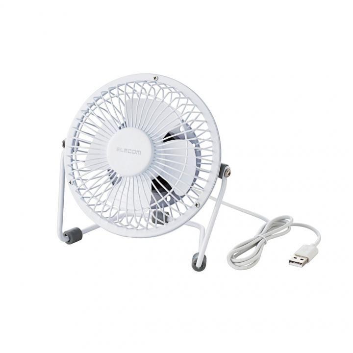 USB扇風機(金網フレーム) ホワイト_0