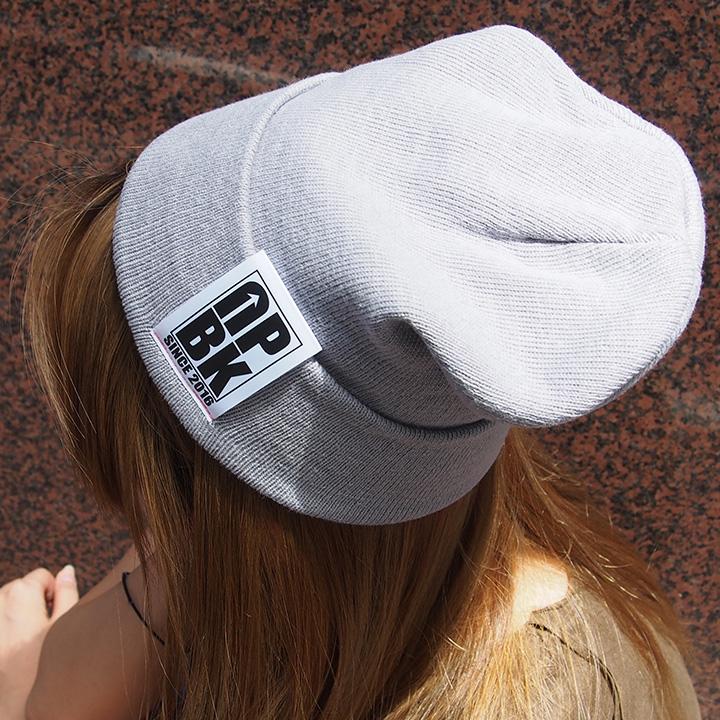UPBK サマーニット帽 グレー
