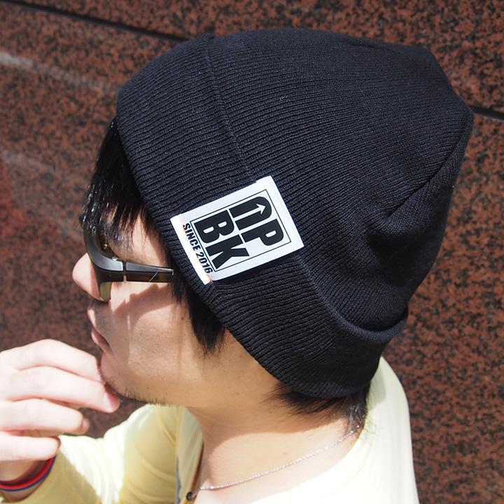UPBK サマーニット帽 ブラック