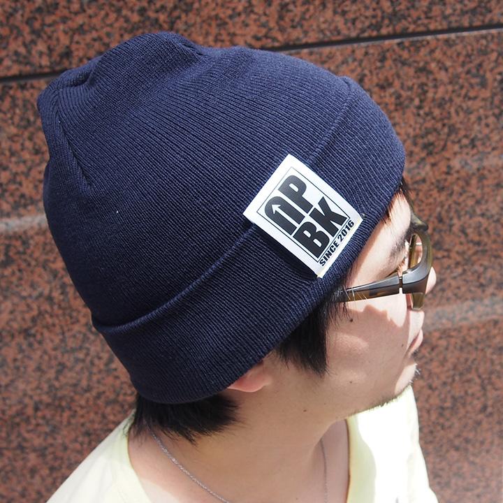 UPBK サマーニット帽 ネイビー